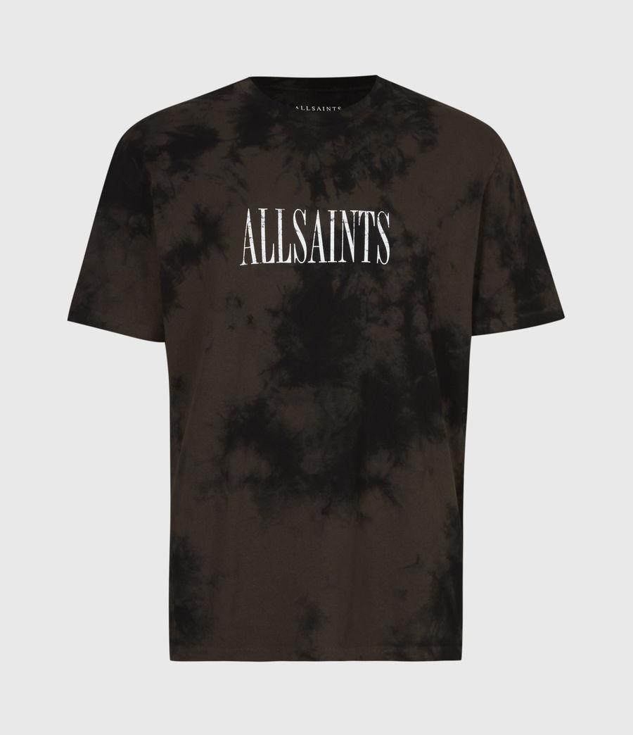 Men's Tie Dye Stamp Crew T-Shirt (grey_marl) - Image 2