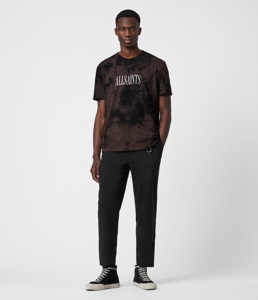 Men's Tie Dye Stamp Crew T-Shirt (grey_marl) - Image 4