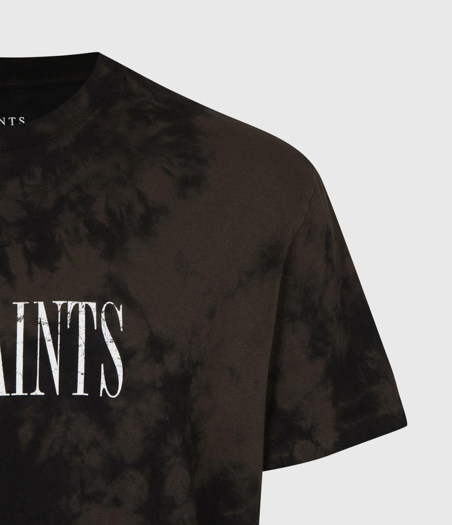 Men's Tie Dye Stamp Crew T-Shirt (grey_marl) - Image 5