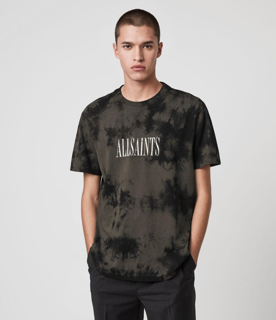 Herren Tie Dye Stamp T-Shirt (washed_black_black) - Image 1