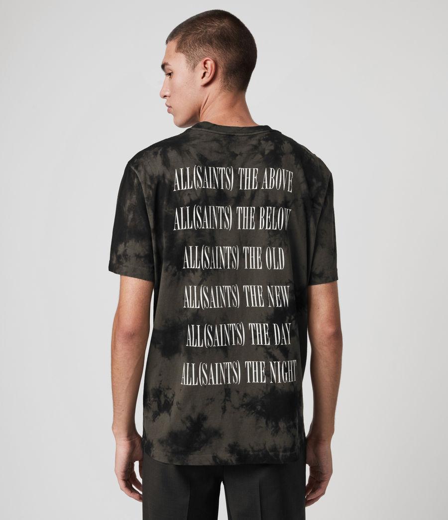 Herren Tie Dye Stamp T-Shirt (washed_black_black) - Image 2