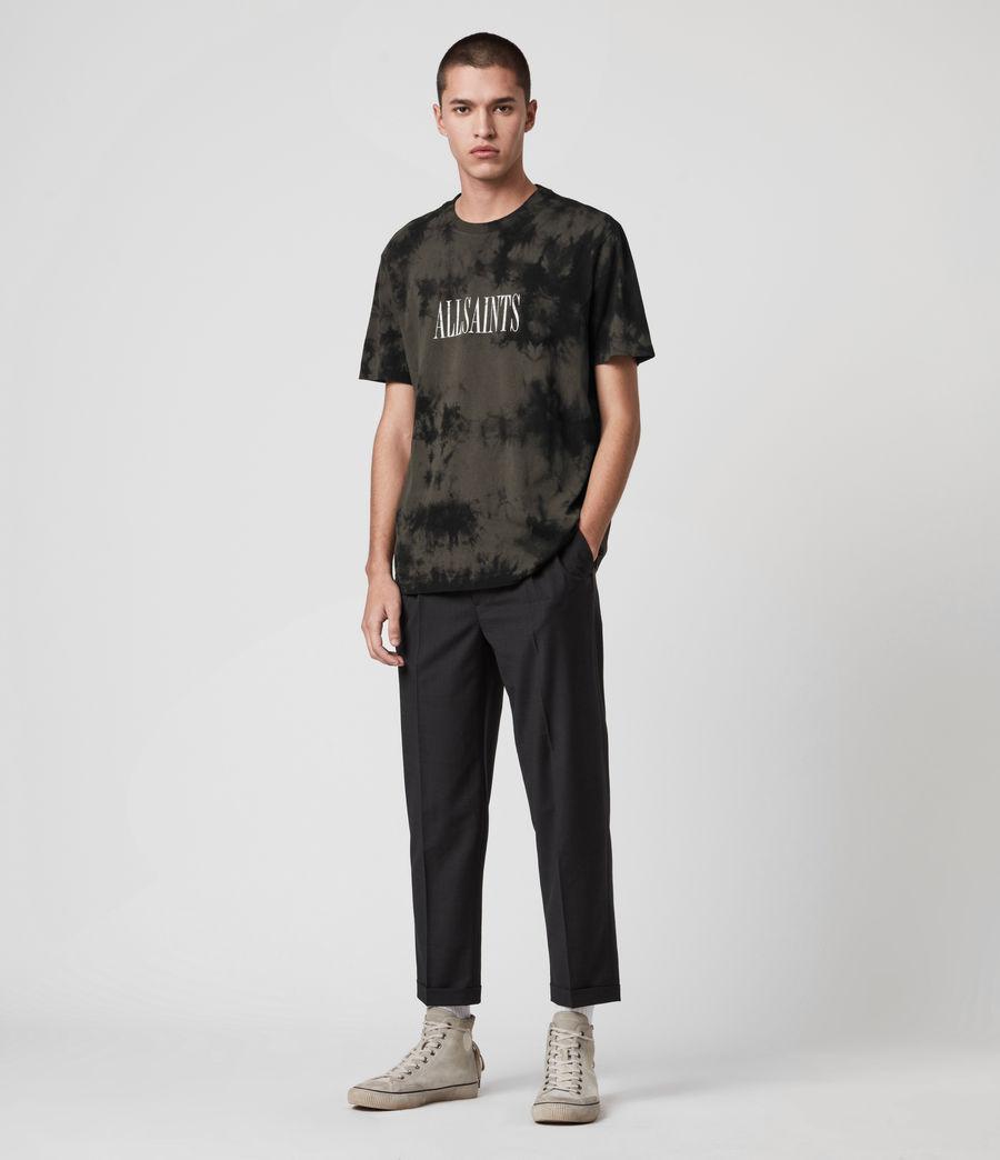 Herren Tie Dye Stamp T-Shirt (washed_black_black) - Image 3