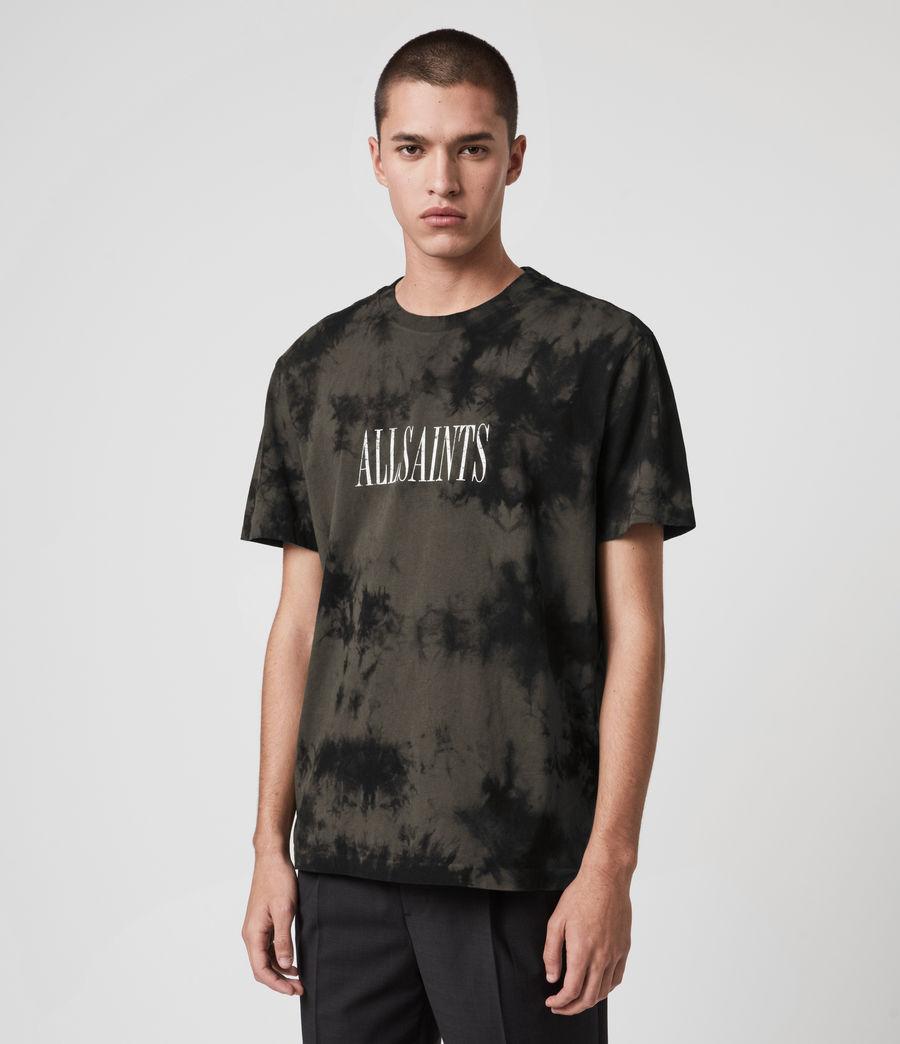 Herren Tie Dye Stamp T-Shirt (washed_black_black) - Image 5