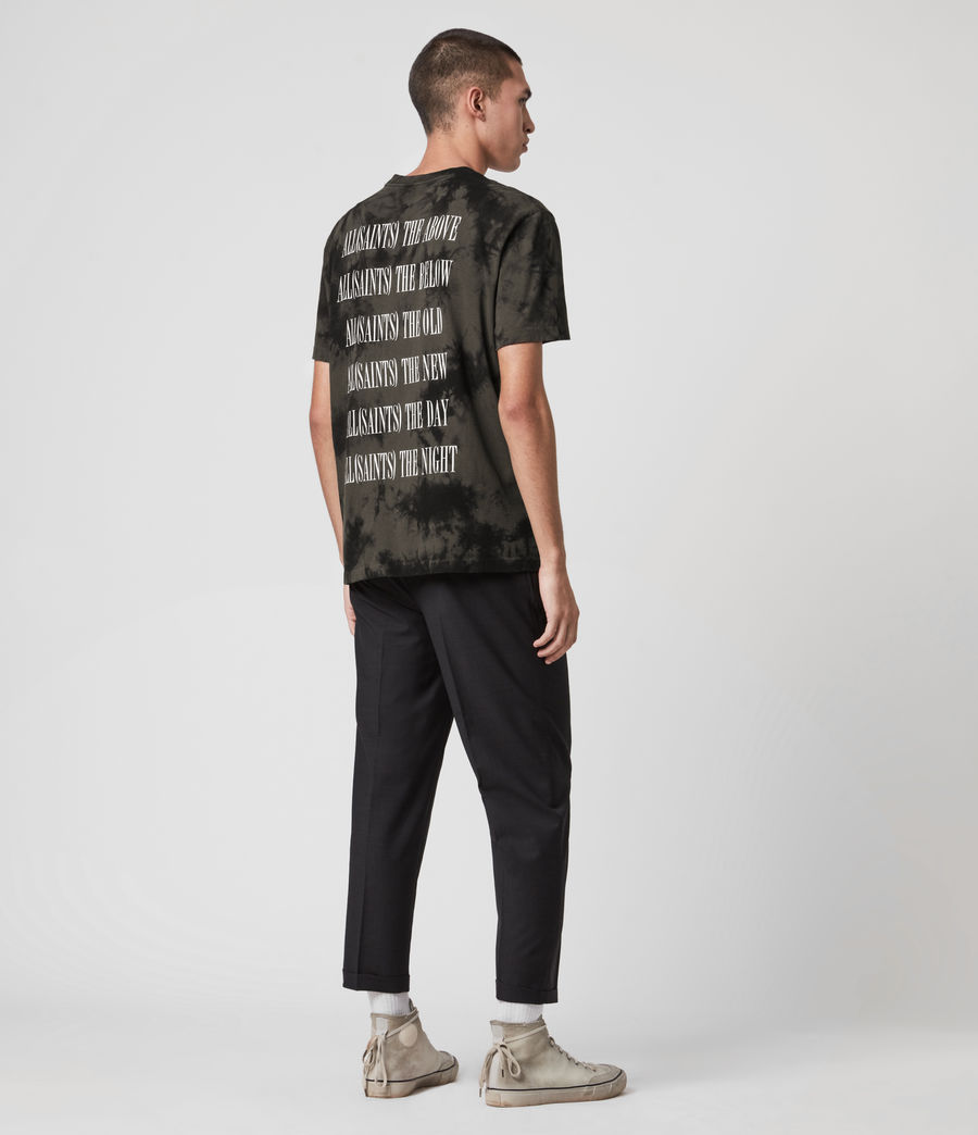 Herren Tie Dye Stamp T-Shirt (washed_black_black) - Image 6
