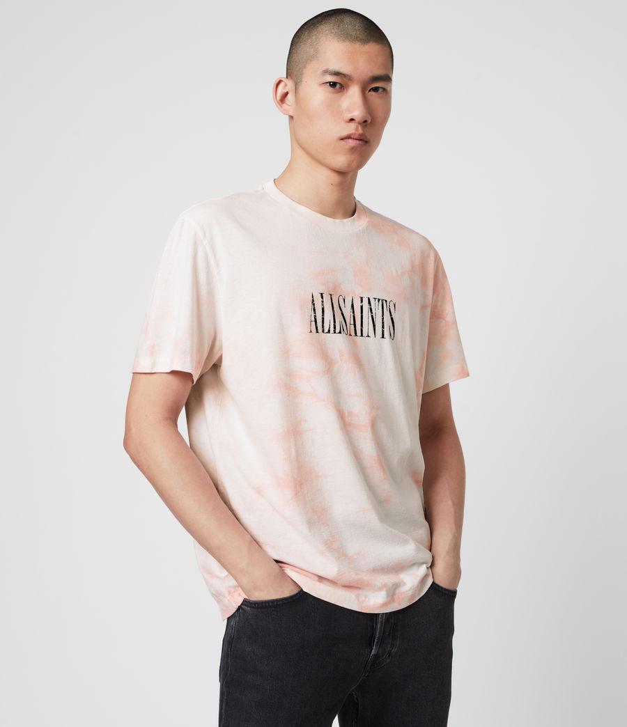 Men's Tie Dye Stamp Crew T-Shirt (washed_black_black) - Image 1