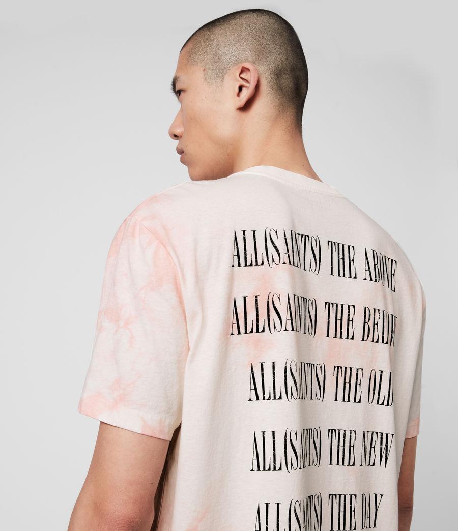 Men's Tie Dye Stamp Crew T-Shirt (washed_black_black) - Image 2