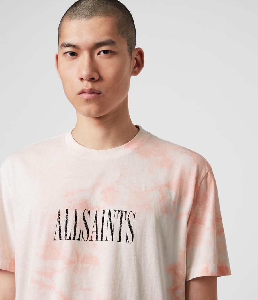 Men's Tie Dye Stamp Crew T-Shirt (washed_black_black) - Image 5