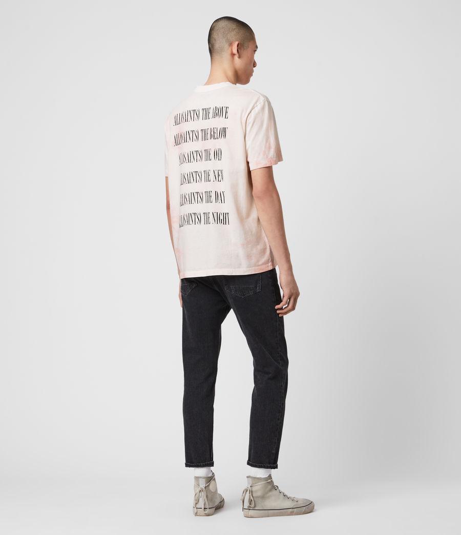 Men's Tie Dye Stamp Crew T-Shirt (washed_black_black) - Image 6