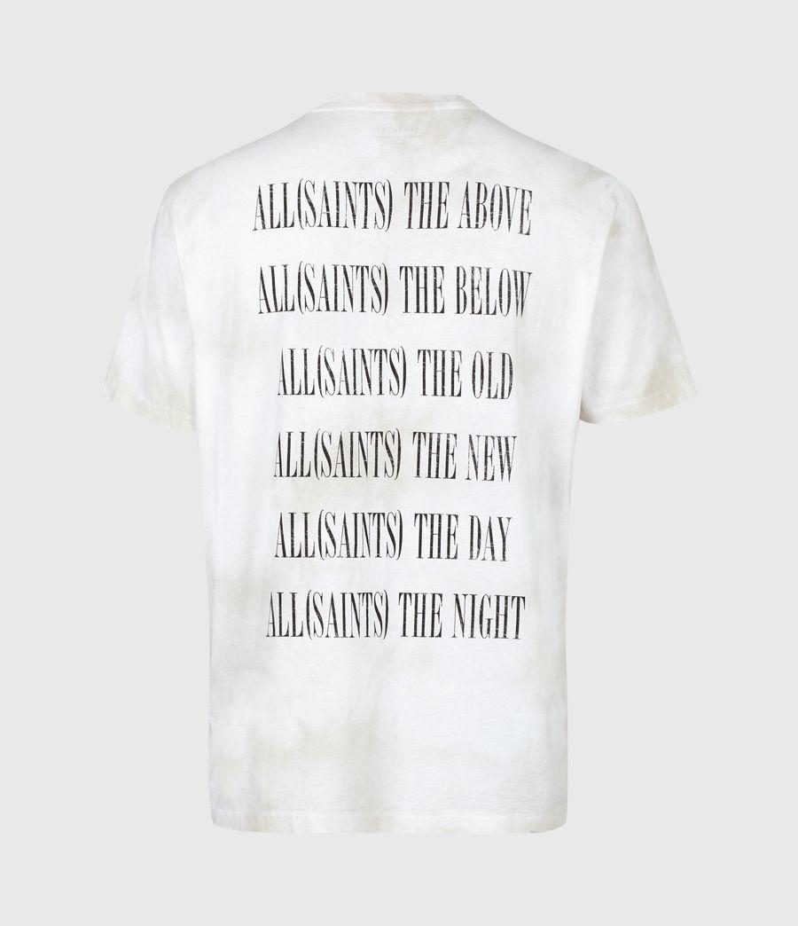 Herren Batik Stamp Crew T-Shirt (white_stone_grey) - Image 3