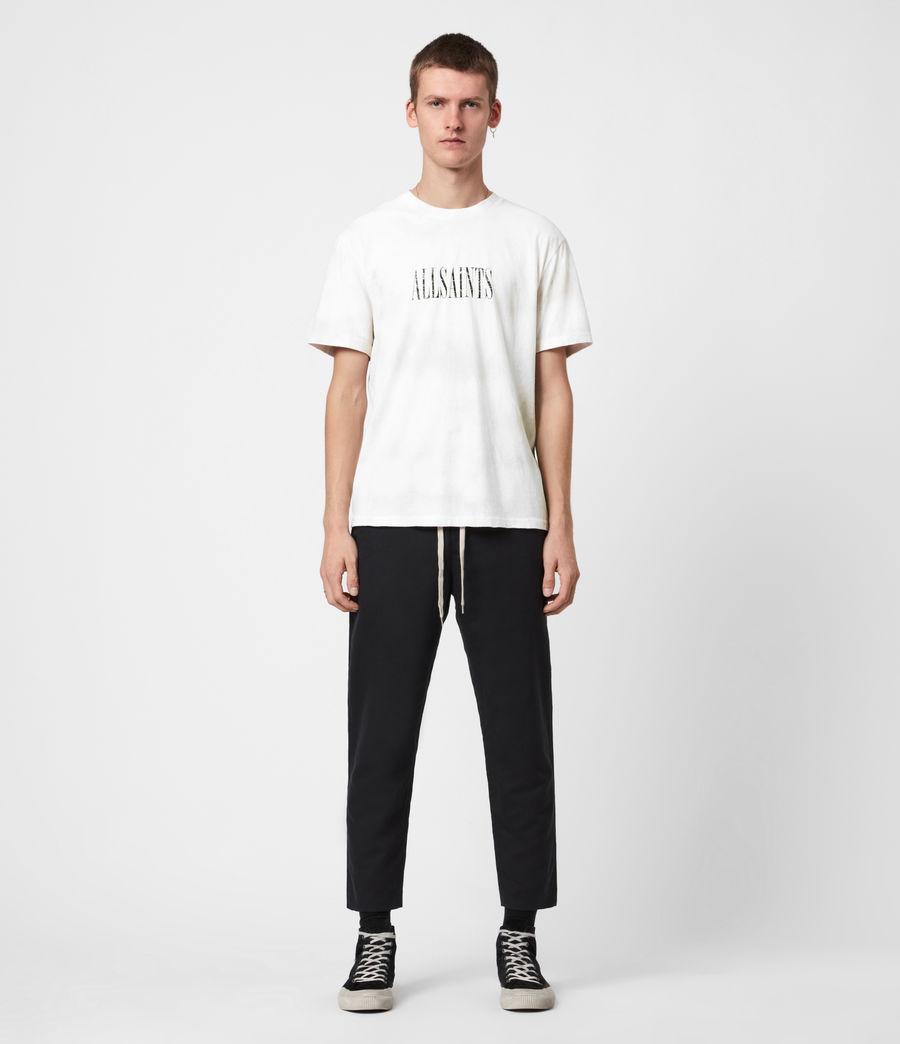 Herren Batik Stamp Crew T-Shirt (white_stone_grey) - Image 7