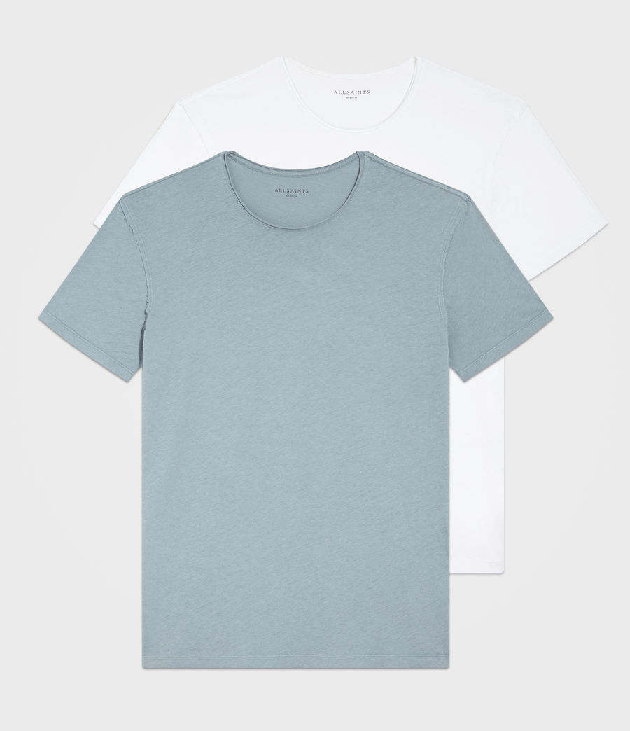 Hombre Pack de 2 Camisetas Figure (white_salt_blue) - Image 1