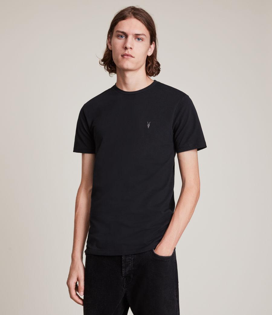 Herren Brace Tonic Crew 3 Pack T-Shirts (marsh_jet_blk_wht) - Image 4