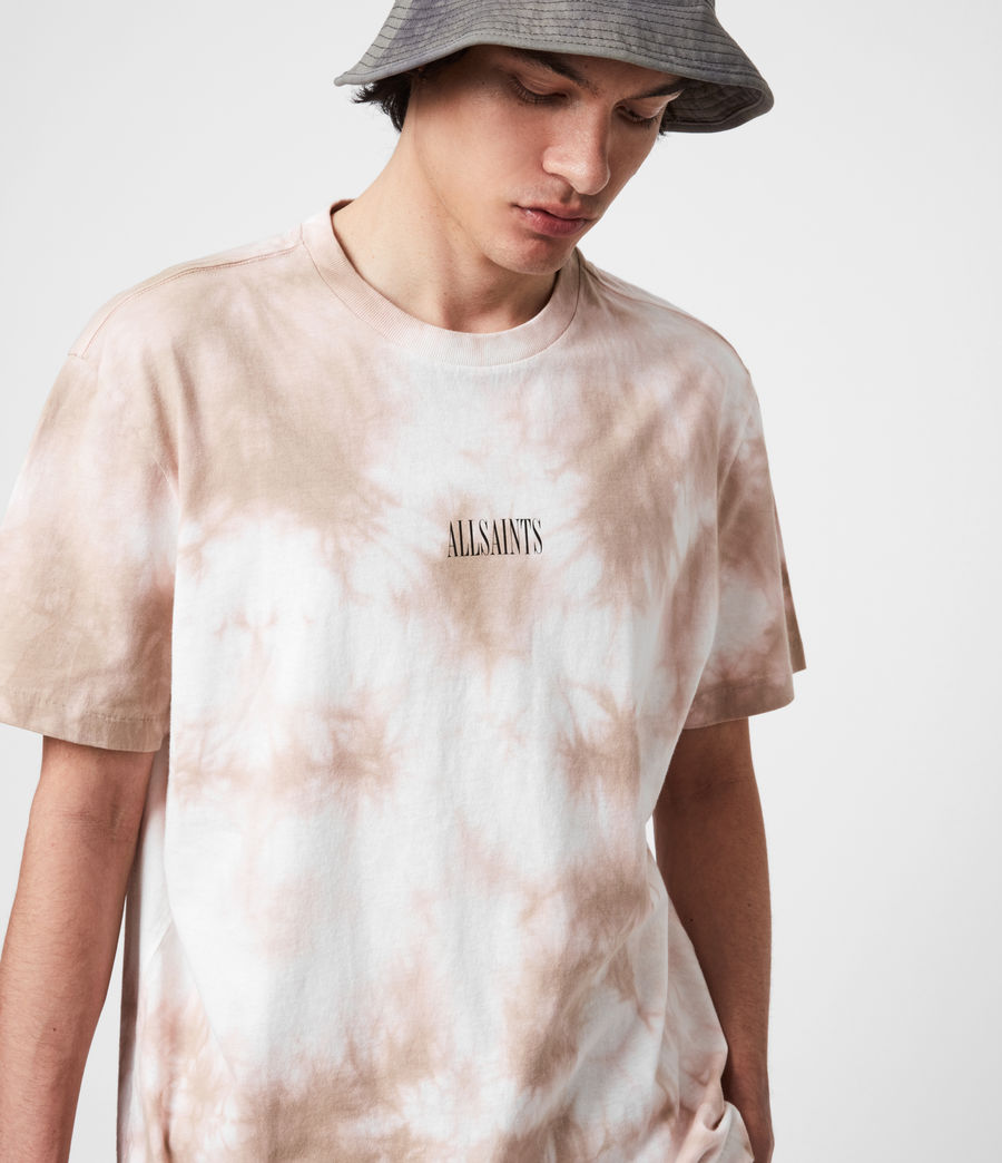 Men's State Tie Dye Crew T-Shirt (rock_salt_smokey) - Image 1