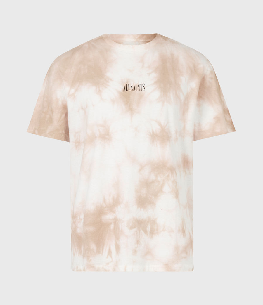 Men's State Tie Dye Crew T-Shirt (rock_salt_smokey) - Image 2