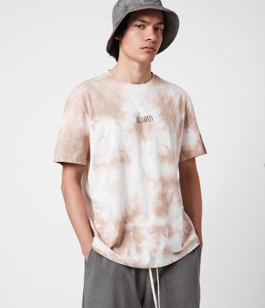 Men's State Tie Dye Crew T-Shirt (rock_salt_smokey) - Image 4