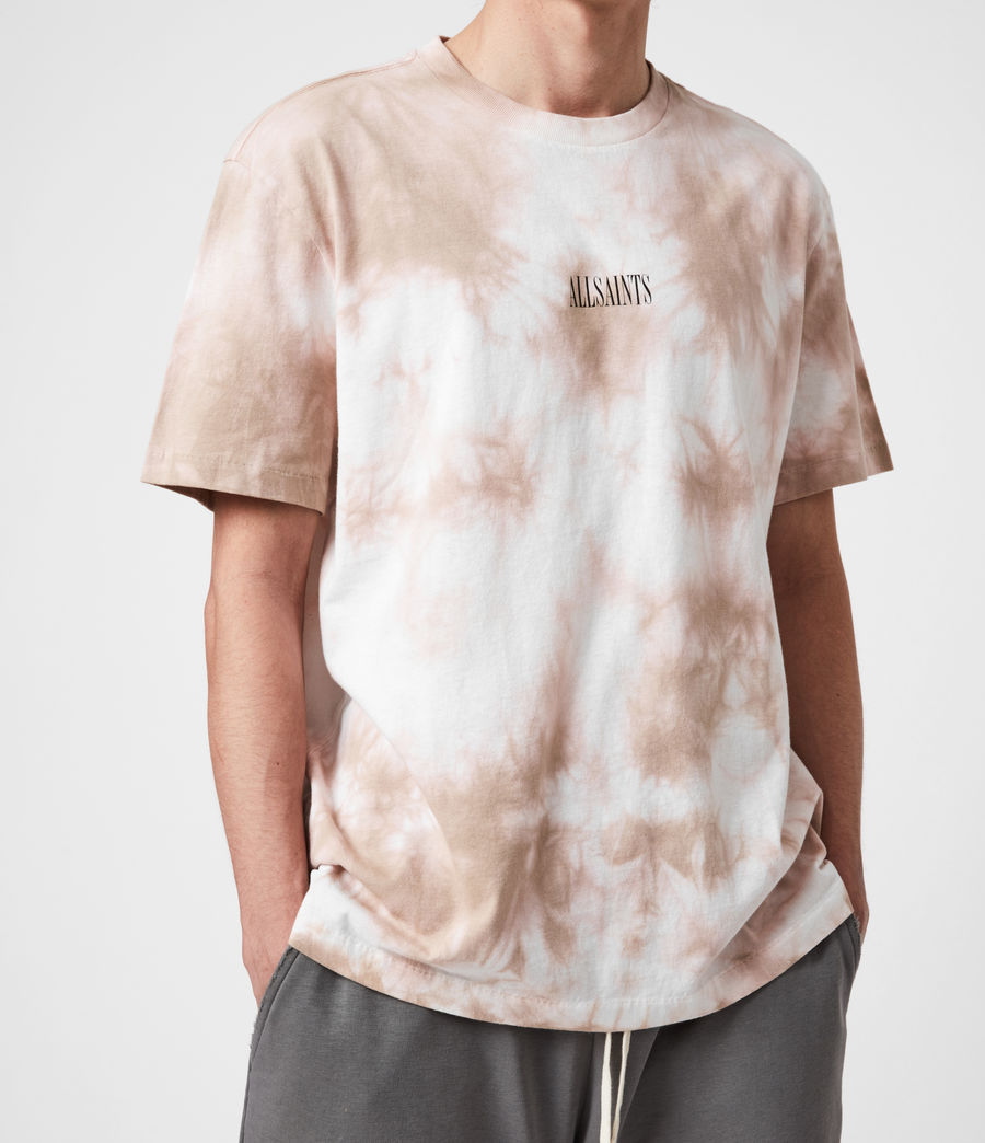 Men's State Tie Dye Crew T-Shirt (rock_salt_smokey) - Image 7