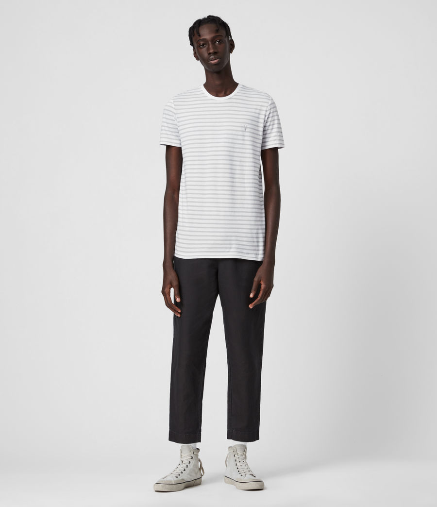 Men's Tonic Status Crew T-Shirt (chalk_white_grey) - Image 4