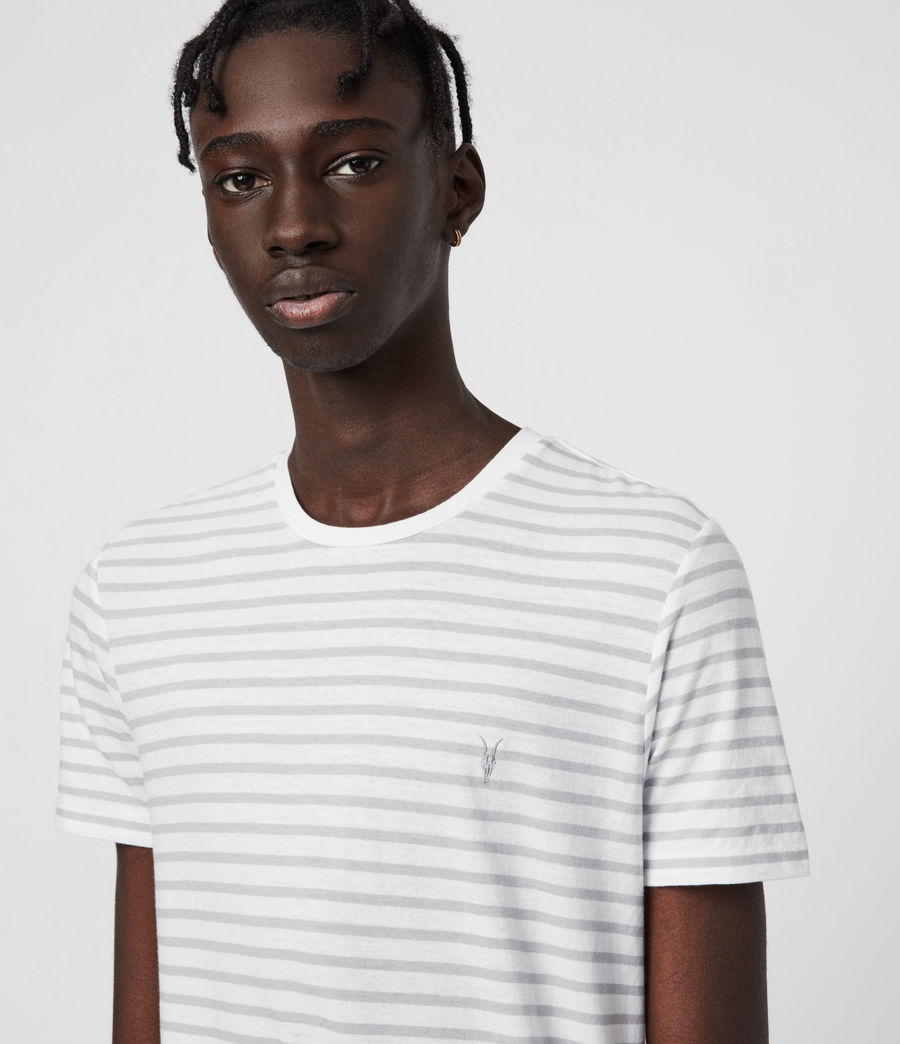 Men's Tonic Status Crew T-Shirt (chalk_white_grey) - Image 6