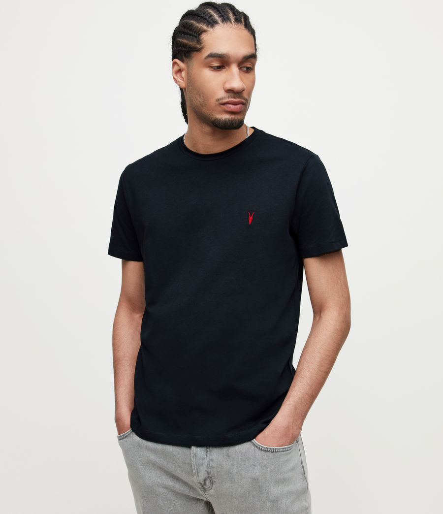Mens Brace Contrast Crew T-Shirt (washed_black) - Image 1