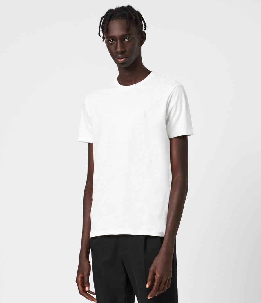 Herren Brace Contrast Crew T-Shirt (chalk_white) - Image 1