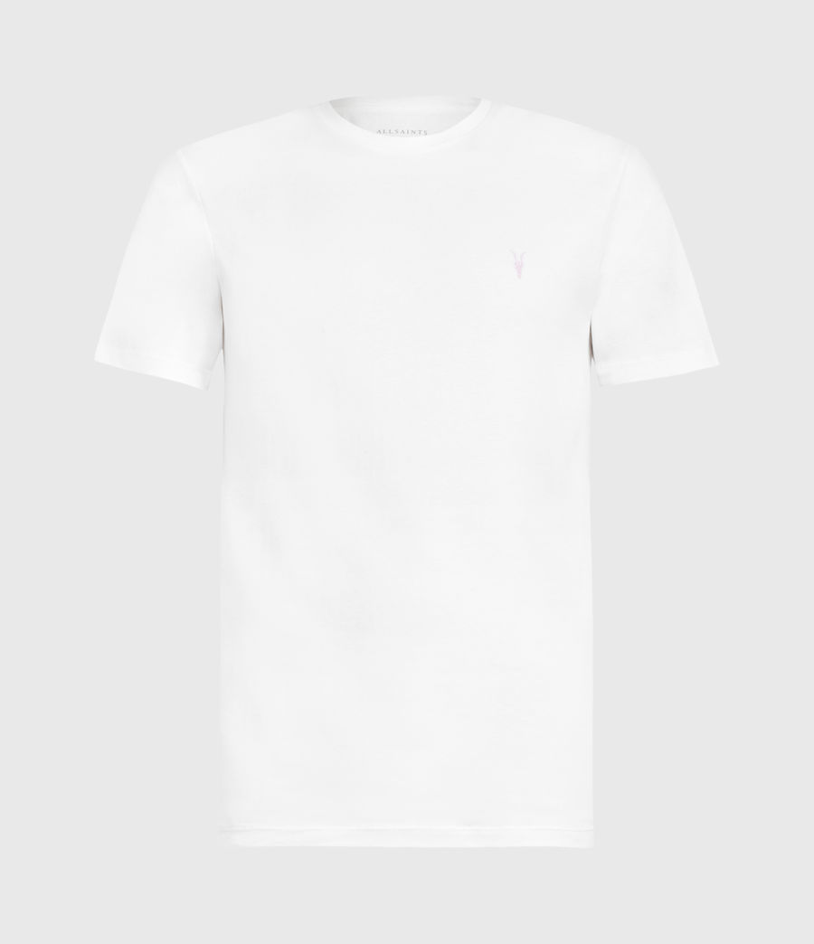 Herren Brace Contrast Crew T-Shirt (chalk_white) - Image 2