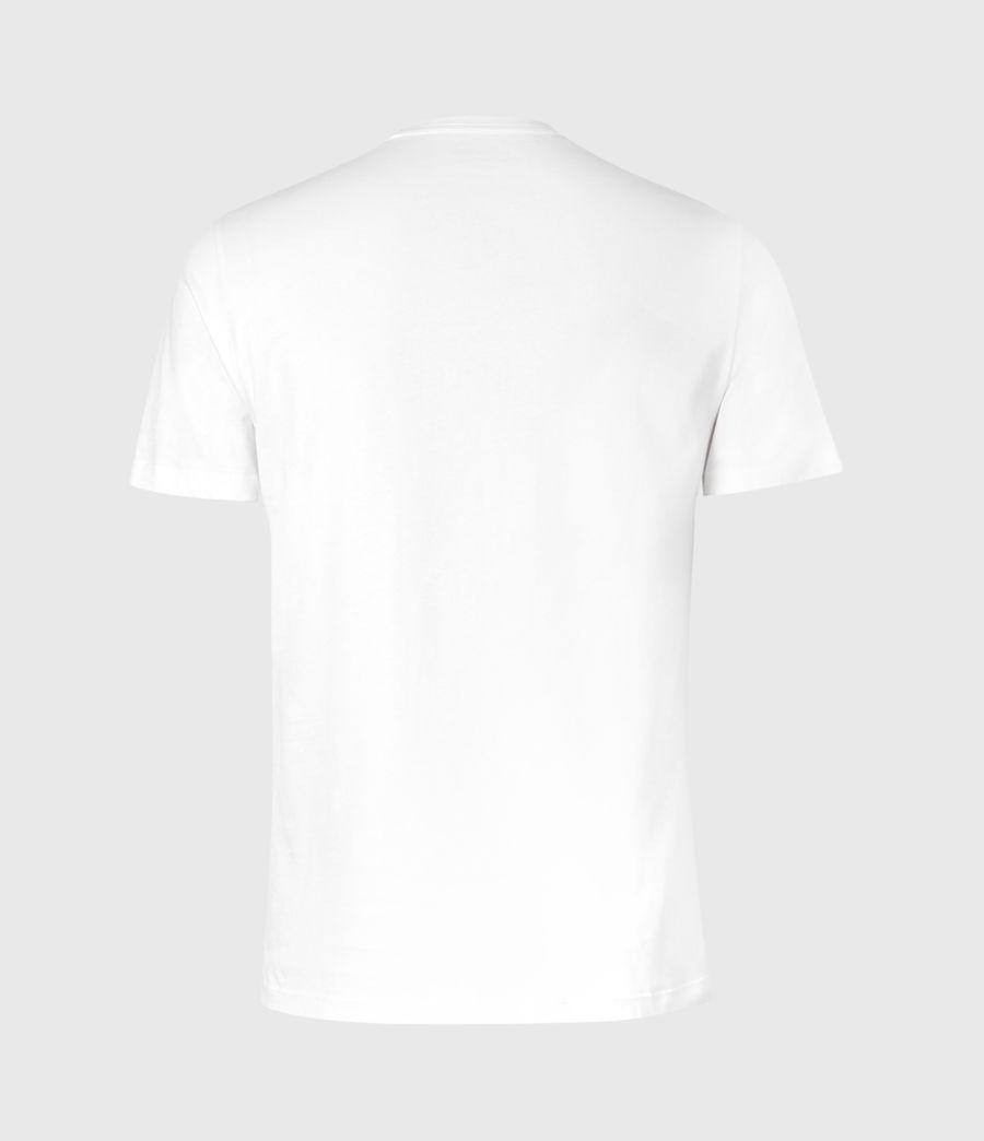 Herren Brace Contrast Crew T-Shirt (chalk_white) - Image 3