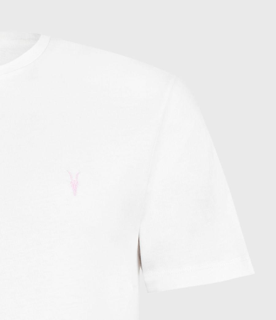 Herren Brace Contrast Crew T-Shirt (chalk_white) - Image 5