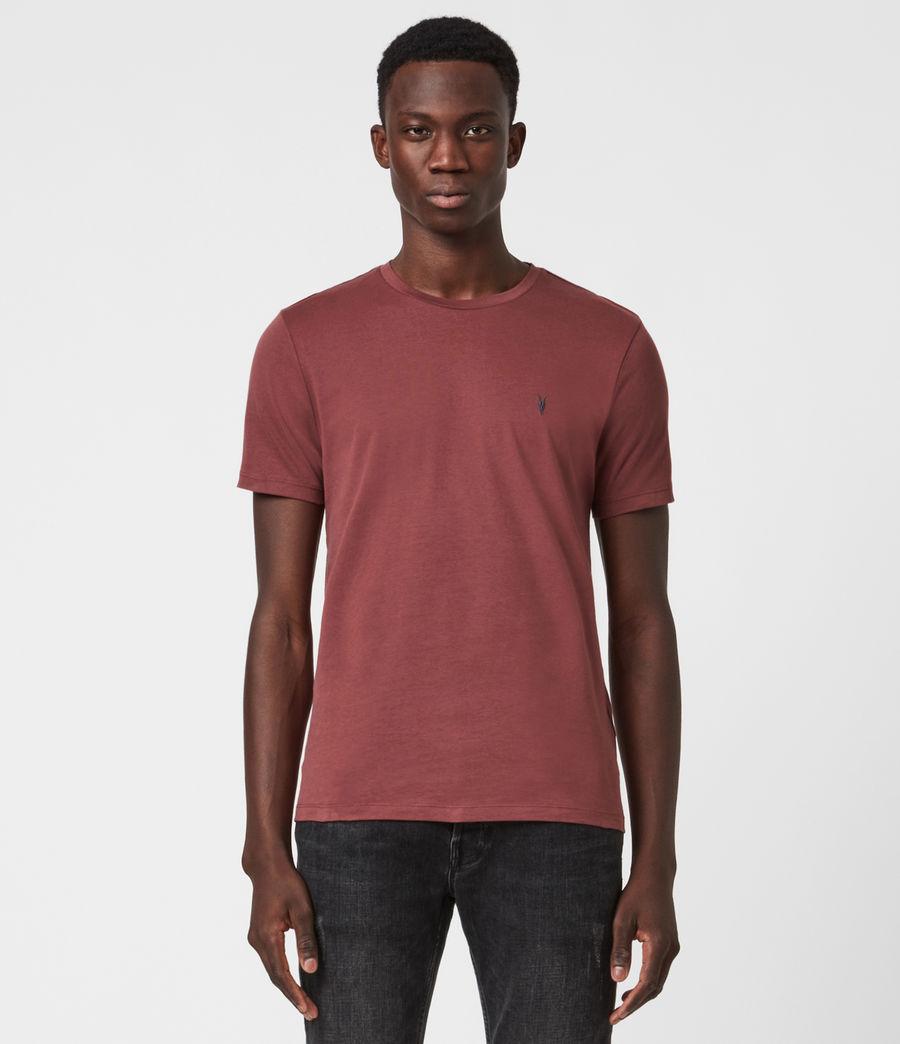 Men's Brace Contrast Crew T-Shirt (tuscan_red) - Image 1