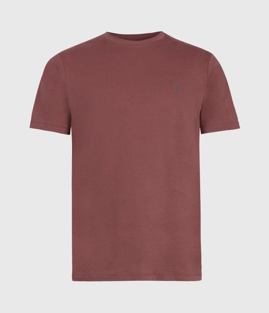 Men's Brace Contrast Crew T-Shirt (tuscan_red) - Image 2