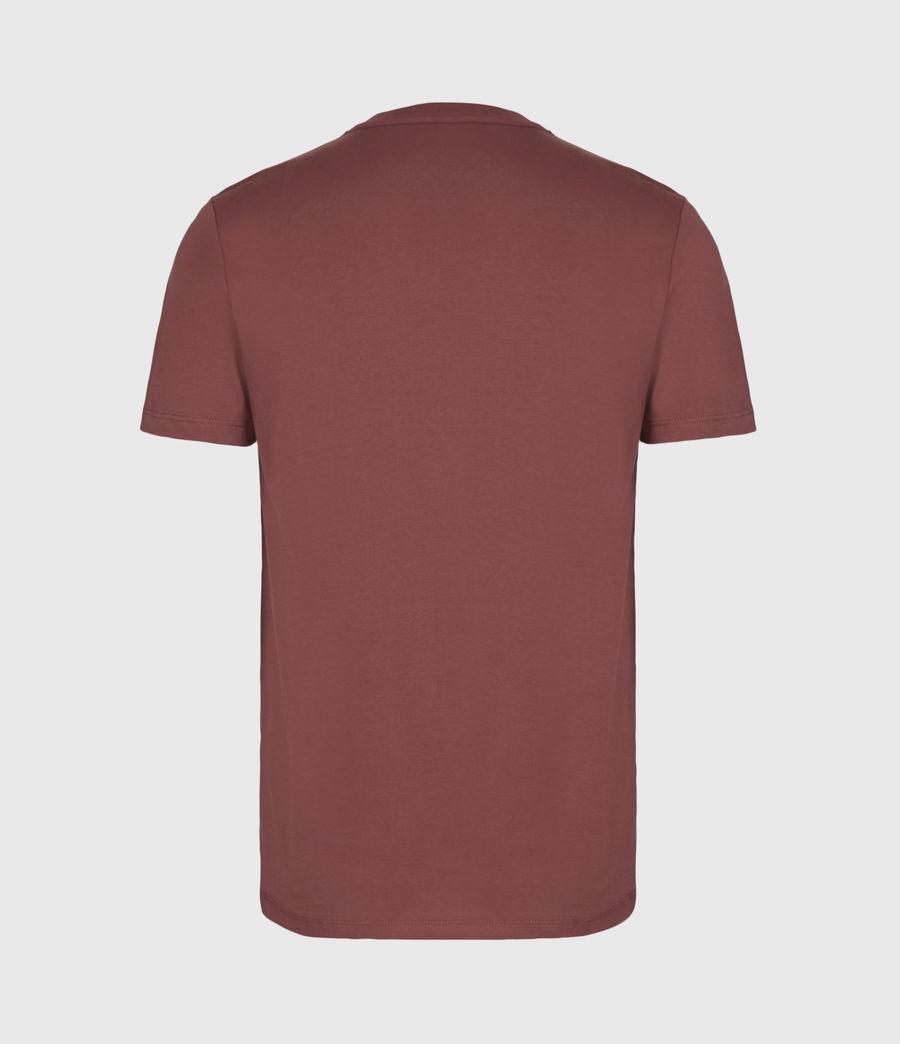 Men's Brace Contrast Crew T-Shirt (tuscan_red) - Image 3