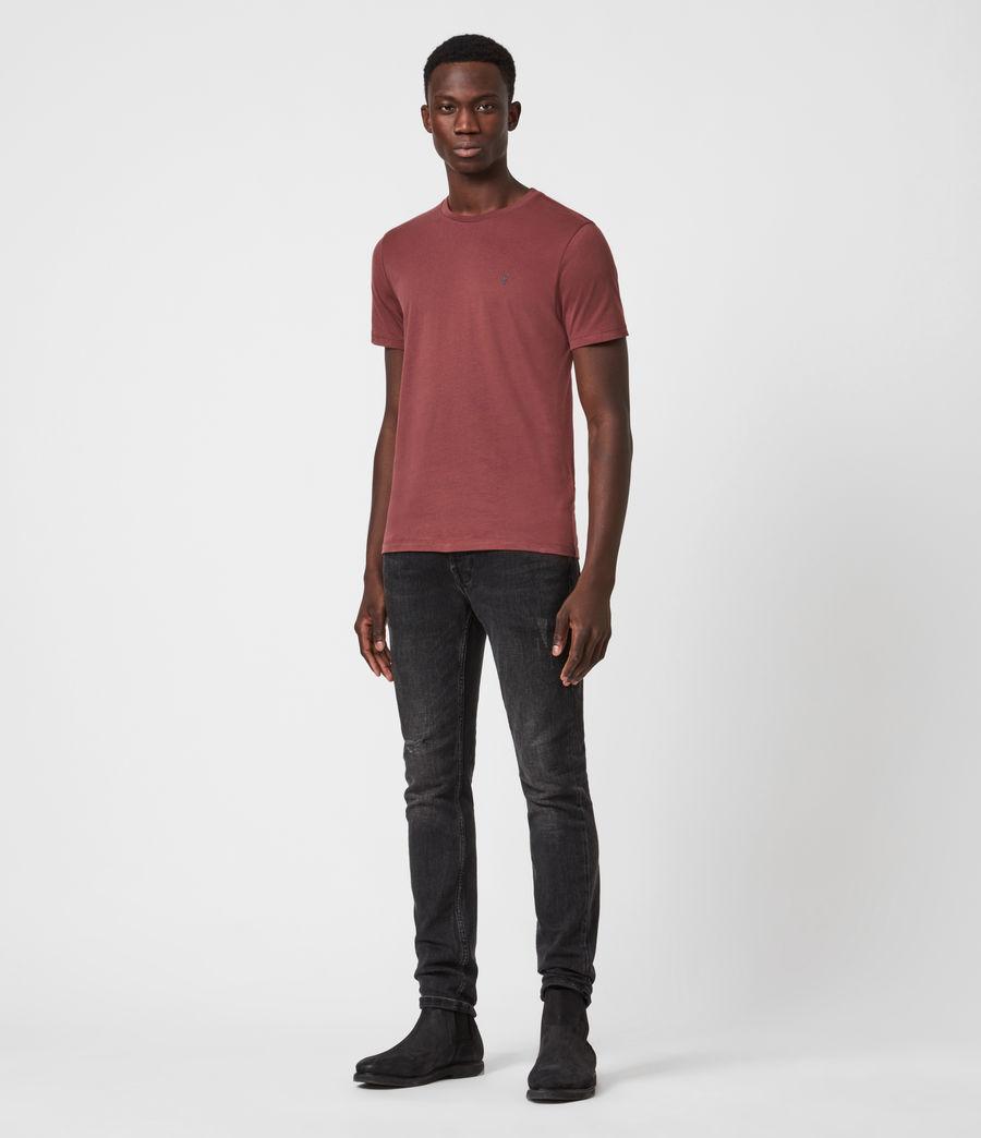Men's Brace Contrast Crew T-Shirt (tuscan_red) - Image 4