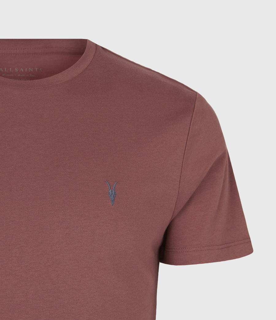 Men's Brace Contrast Crew T-Shirt (tuscan_red) - Image 5