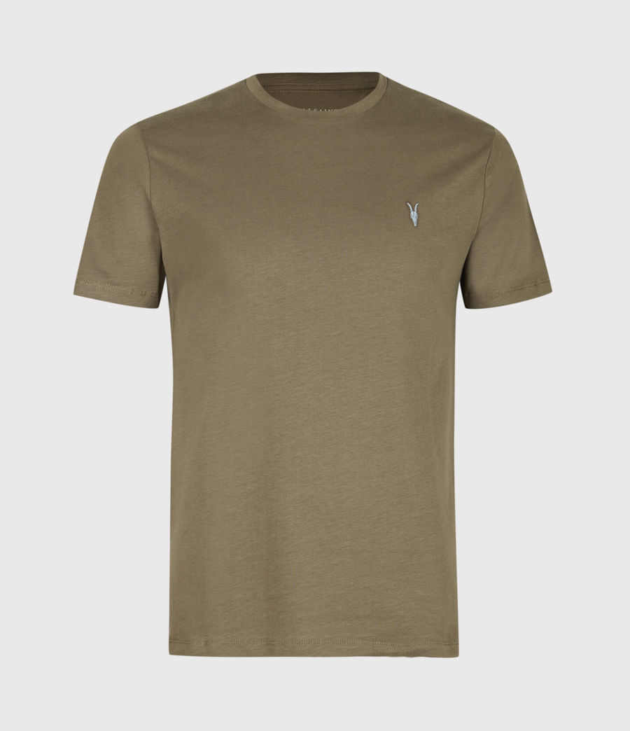 Mens Brace Contrast Crew T-Shirt (deep_olive_green) - Image 2