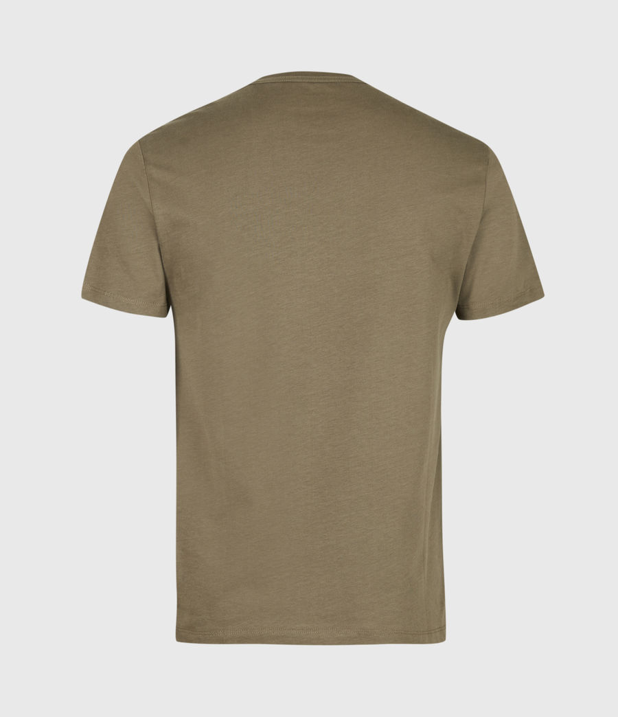 Mens Brace Contrast Crew T-Shirt (deep_olive_green) - Image 3