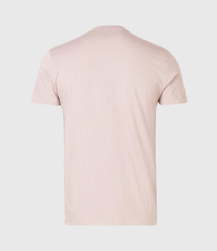 Herren Brace Contrast Crew T-Shirt (glaze_pink) - Image 2