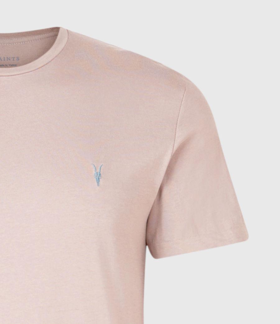 Herren Brace Contrast Crew T-Shirt (glaze_pink) - Image 3
