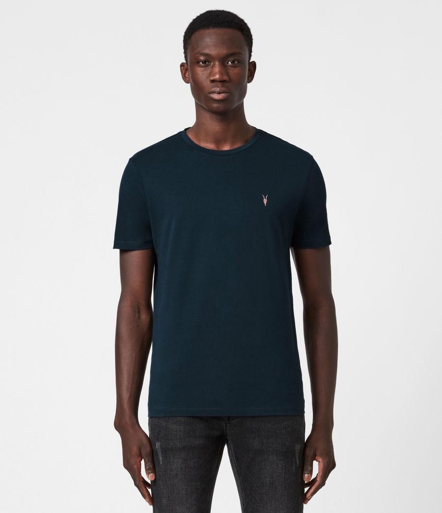 Mens Brace Contrast Crew T-Shirt (sapphire_blue) - Image 1