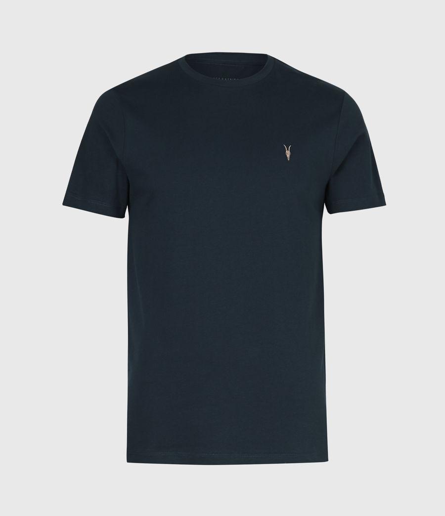 Mens Brace Contrast Crew T-Shirt (sapphire_blue) - Image 2