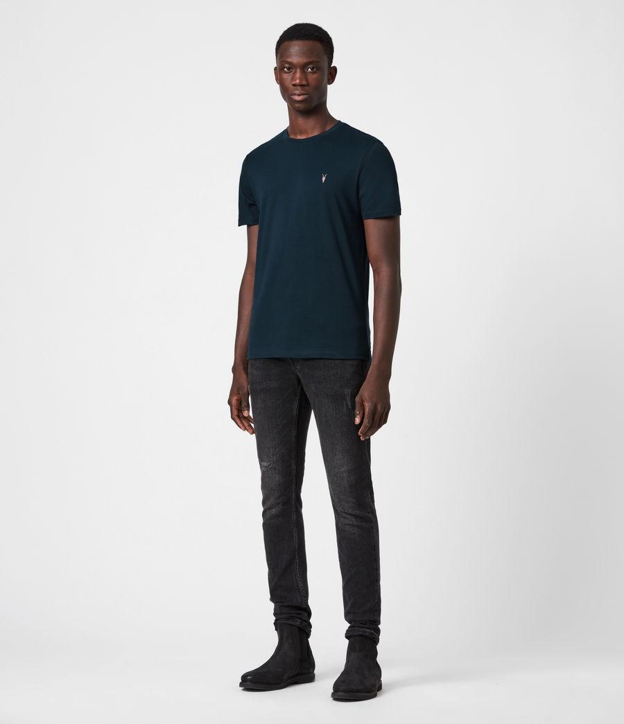 Mens Brace Contrast Crew T-Shirt (sapphire_blue) - Image 4