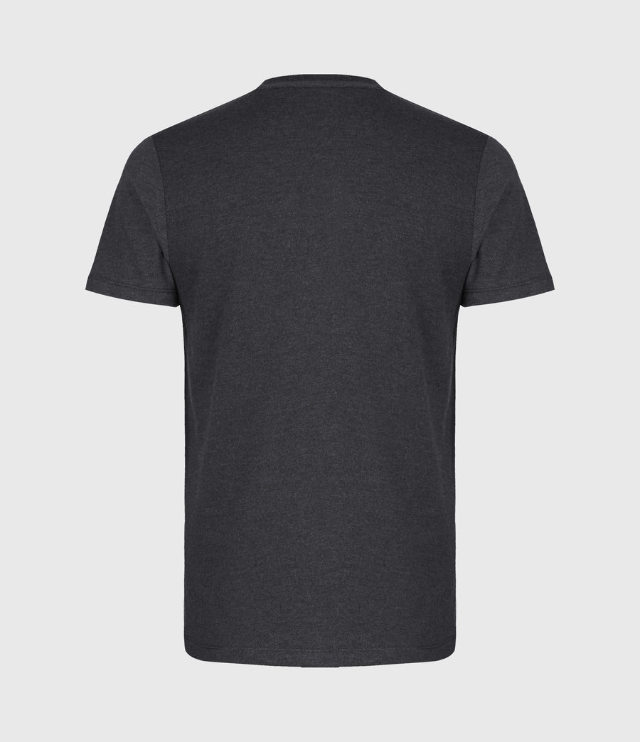 Mens Brace Contrast Crew T-Shirt (soot_black_marl) - Image 3