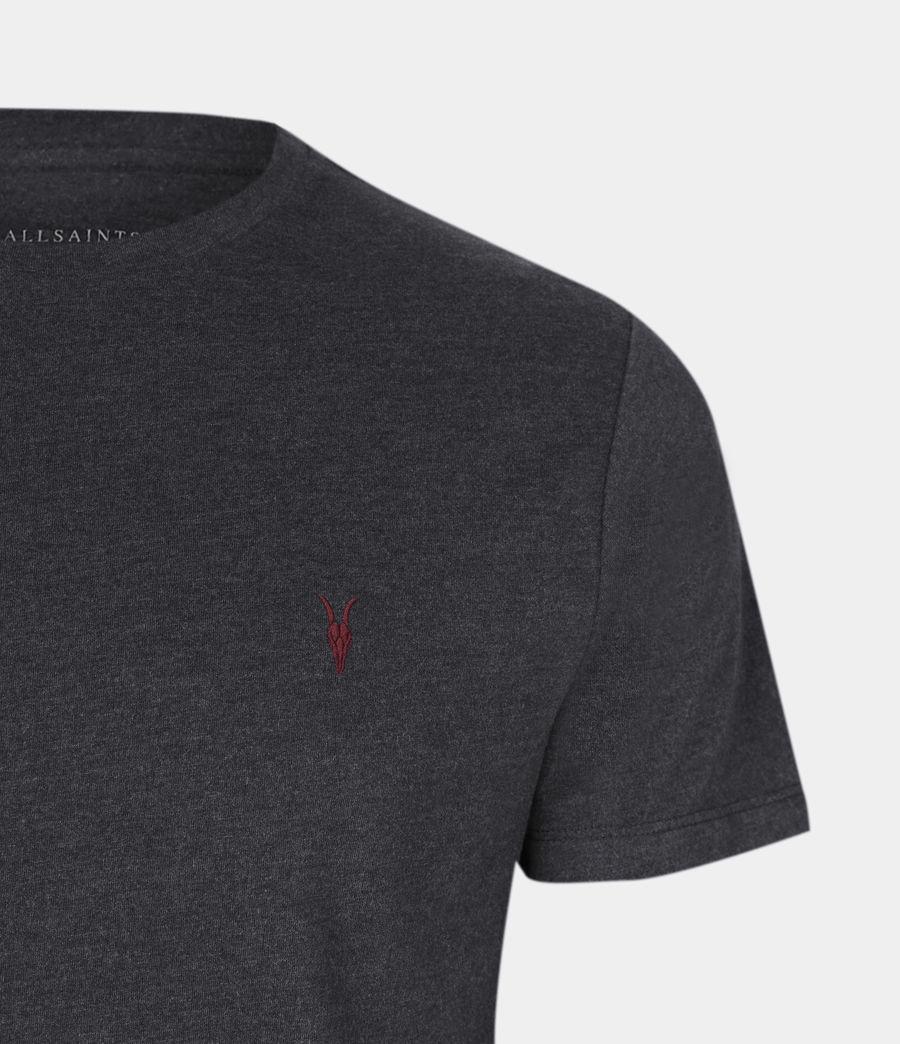Mens Brace Contrast Crew T-Shirt (soot_black_marl) - Image 5