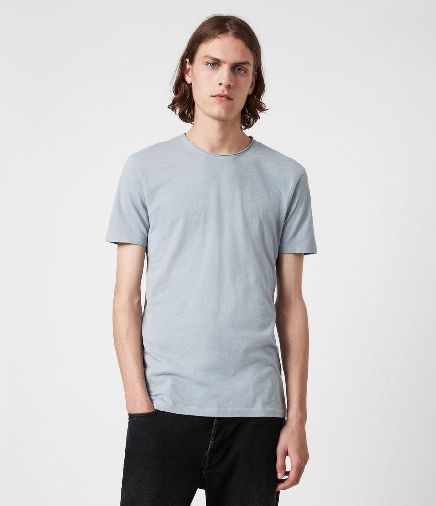 Mens Figure Crew T-Shirt (breezy_blue) - Image 1