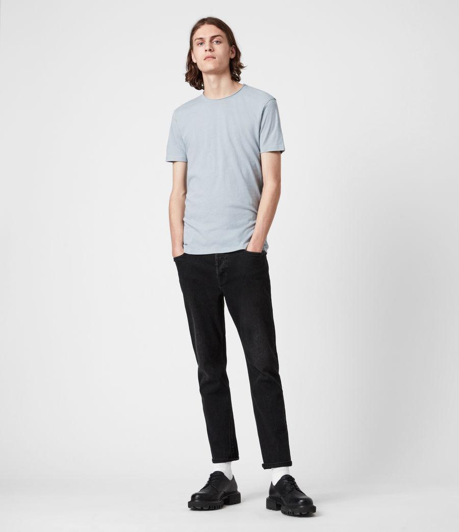 Mens Figure Crew T-Shirt (breezy_blue) - Image 4