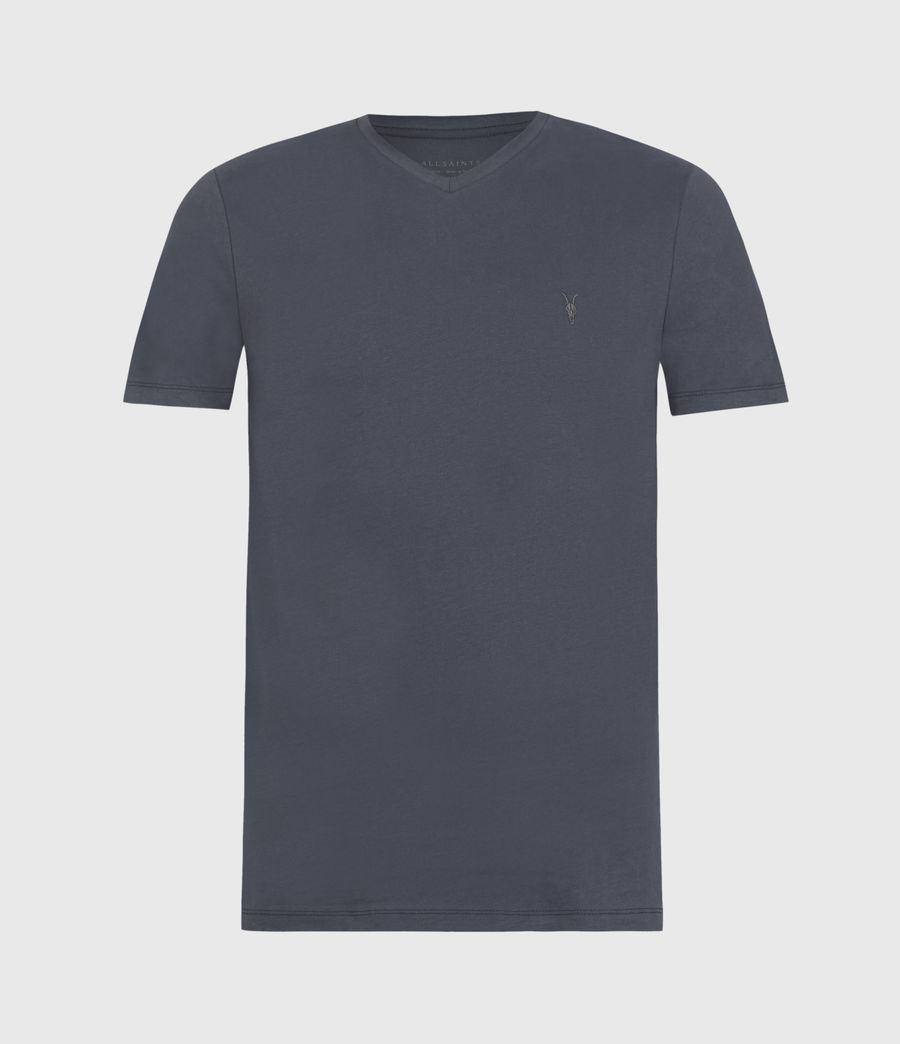 Mens Brace V-Neck T-Shirt (washed_navy) - Image 1