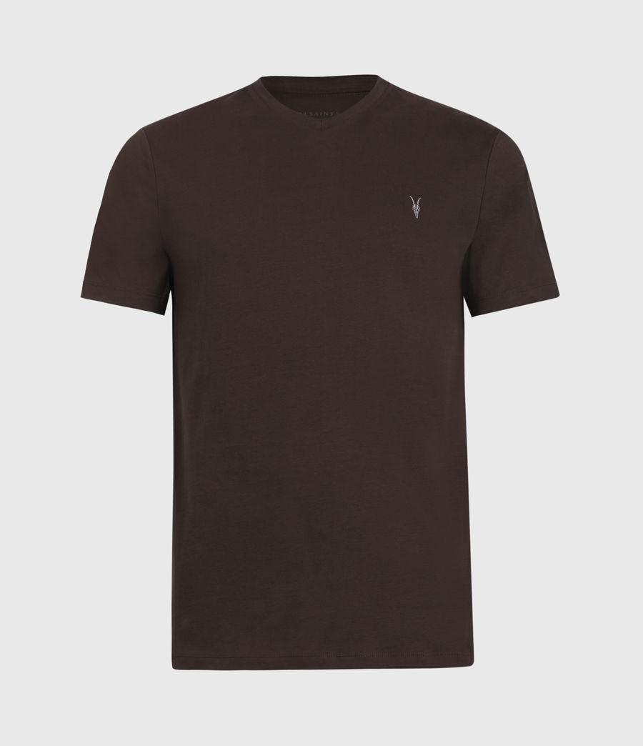 Men's Brace V-Neck T-Shirt (oxblood_red) - Image 2