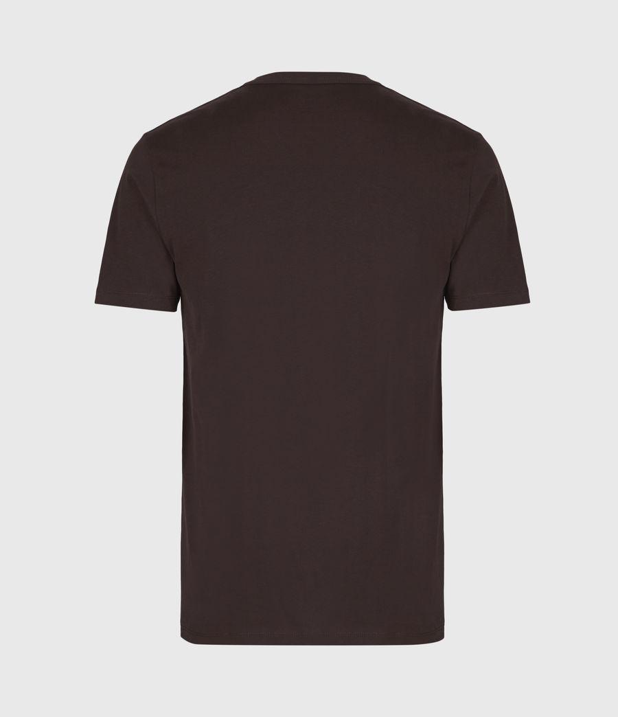 Men's Brace V-Neck T-Shirt (oxblood_red) - Image 3
