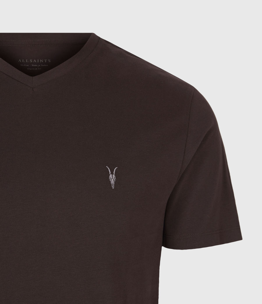 Men's Brace V-Neck T-Shirt (oxblood_red) - Image 4