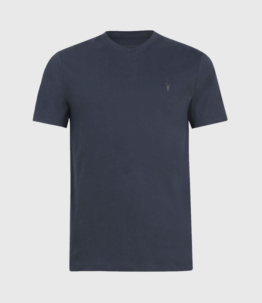 Mens Brace V-Neck T-Shirt (quartz_blue) - Image 2