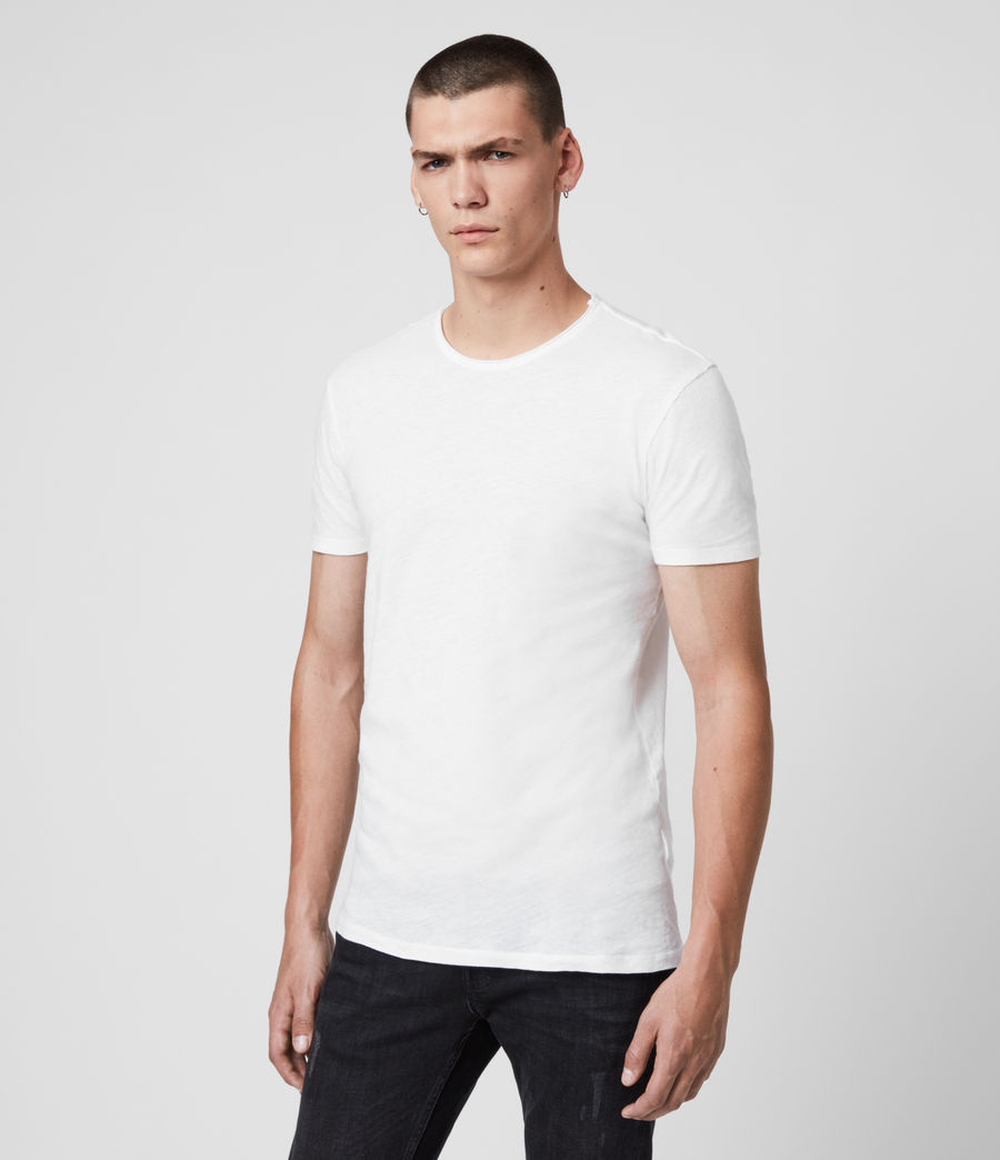 Men's Figure Crew 2 Pack T-Shirts (white) - Image 3