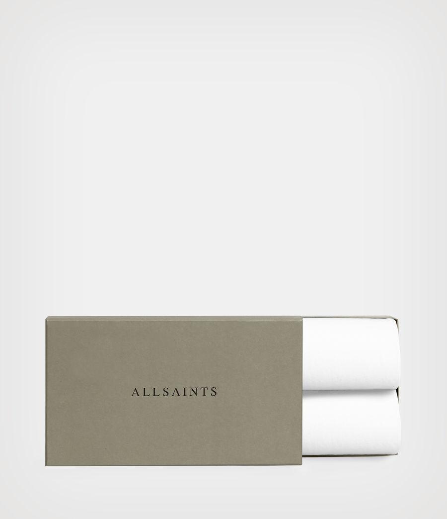 Herren Figure Crew 2er Pack T-Shirts (white) - Image 5